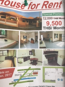 House Rent Poster Chiang Mai